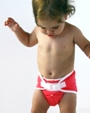 baby in thirsties duo cloth diaper - red